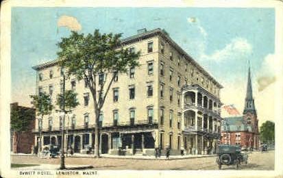 DeWitt Hotel - Lewiston, Maine ME Postcard