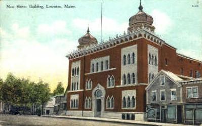 New Shrine Building - Lewiston, Maine ME Postcard