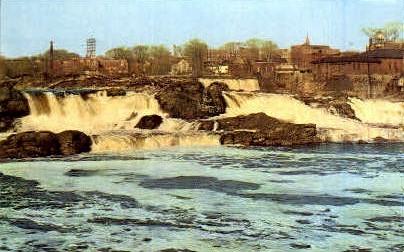 The Falls - Lewiston, Maine ME Postcard