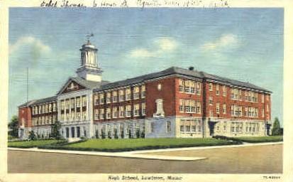 High School - Lewiston, Maine ME Postcard