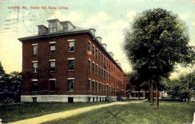 Parker Hall, Bates College - Lewiston, Maine ME Postcard