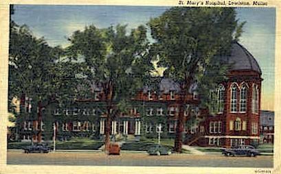 St. Mary's Hospital - Lewiston, Maine ME Postcard