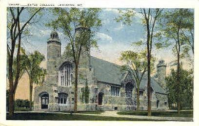 Chapel, Bates College - Lewiston, Maine ME Postcard