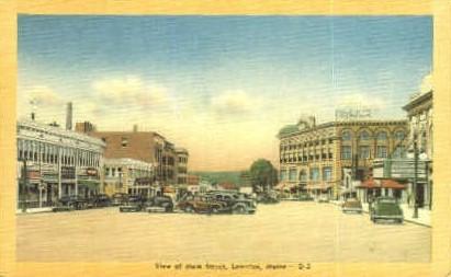 Main St. - Lewiston, Maine ME Postcard