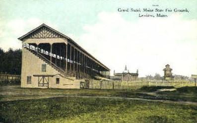 Grand Stand, Maine State Fair Ground - Lewiston Postcard