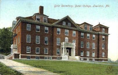 Girls' Dormitory, Bates College - Lewiston, Maine ME Postcard