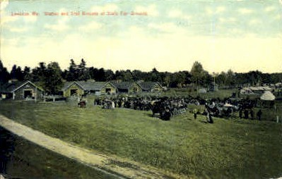Stables & Trail Grounds, State Fair Grounds - Lewiston, Maine ME Postcard