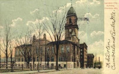 Lewiston City Building - Maine ME Postcard