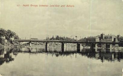 North Bridge - Lewiston, Maine ME Postcard