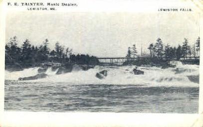Lewiston Falls - Maine ME Postcard