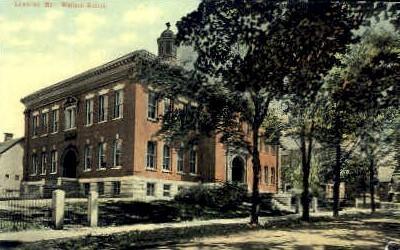 Wallace School - Lewiston, Maine ME Postcard