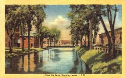 Along the Canal - Lewiston, Maine ME Postcard