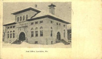 Post Office - Lewiston, Maine ME Postcard