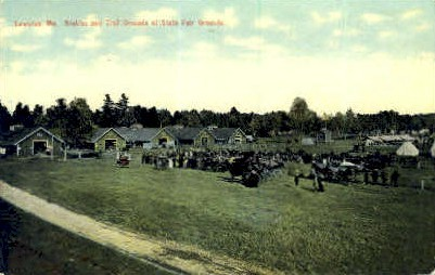 State Fair Grounds - Lewiston, Maine ME Postcard