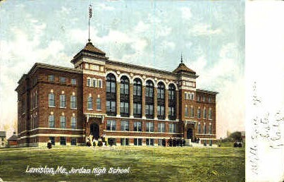 Jordan High School - Lewiston, Maine ME Postcard