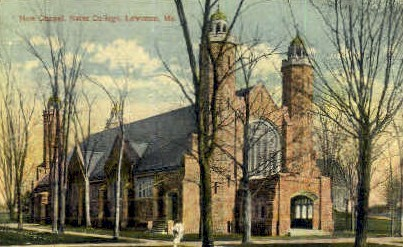 New Chapel, Bates College - Lewiston, Maine ME Postcard