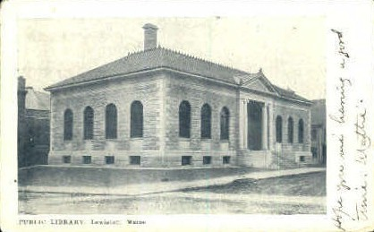 Public Library - Lewiston, Maine ME Postcard