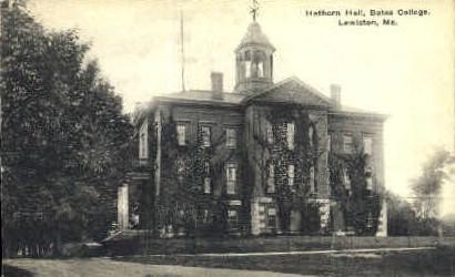 Hathorn Hall, Bates College - Lewiston, Maine ME Postcard