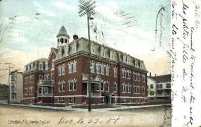 Healey Asylum - Lewiston, Maine ME Postcard