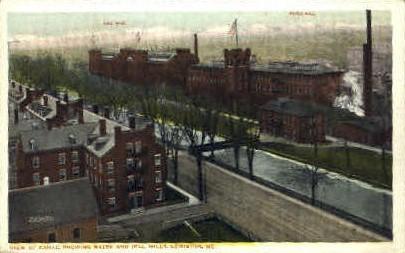 Bates & Hill Mills - Lewiston, Maine ME Postcard