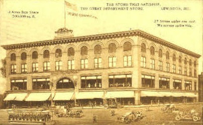 The Great Department Store - Lewiston, Maine ME Postcard