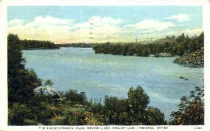 The Androscoggin River - Lewiston, Maine ME Postcard