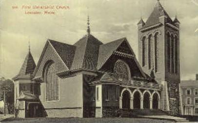 First Universalist Church - Lewiston, Maine ME Postcard