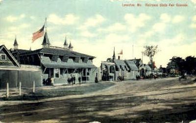 Entrance, State Fair Grounds - Lewiston, Maine ME Postcard