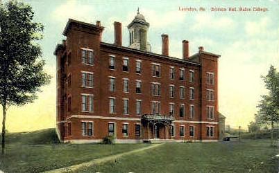 Science Hall, Bates College - Lewiston, Maine ME Postcard