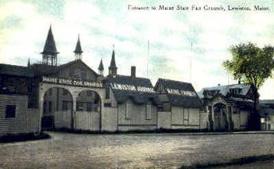 Entrance, Maine State Fair Grounds - Lewiston Postcard