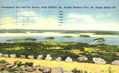 Frenchman's Bay & Bar Harbor - Mt. Desert Island, Maine ME Postcard