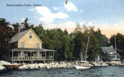 . - Messalonskee Lake, Maine ME Postcard