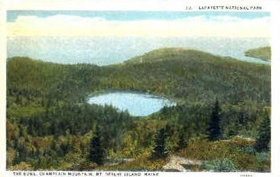 The Bowl, Champlain Mountain - Mt. Desert Island, Maine ME Postcard