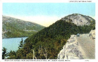 Lafayette National Park - Mt. Desert Island, Maine ME Postcard