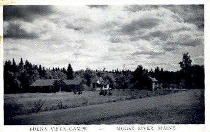 Buena Vista Camps - Moose River, Maine ME Postcard