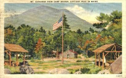 Camp Baxter - Mt. Katahdin, Maine ME Postcard