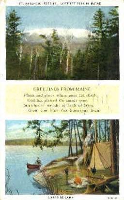 Mt. Katahdin, Maine, ME Postcard