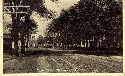 Elm St. - Mc Falls, Maine ME Postcard