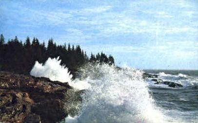 Little Hunters Beach - Mt. Desert Island, Maine ME Postcard