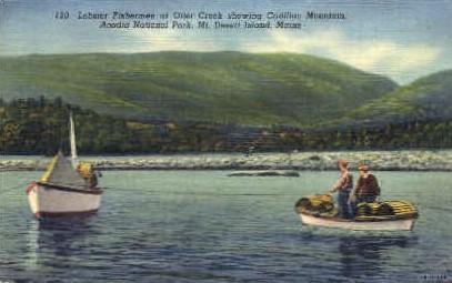 Lobster Fishermen, Otter Creek - Mt. Desert Island, Maine ME Postcard