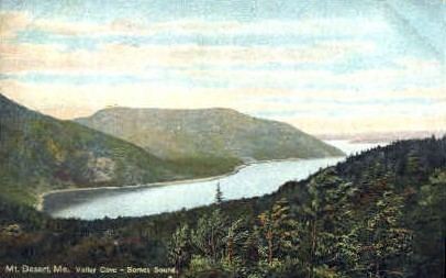 Valley Cove-Somes Sound - Mt. Desert Island, Maine ME Postcard