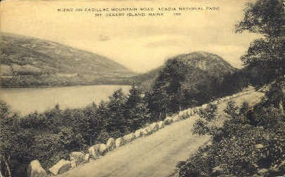 Cadillac Mountain Road - Mt. Desert Island, Maine ME Postcard