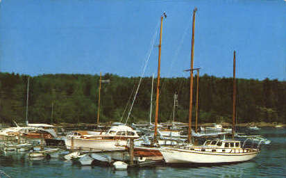 Northeast Harbor Marina - Mt. Desert Island, Maine ME Postcard