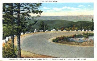 Horseshoe Curve - Mt. Desert Island, Maine ME Postcard