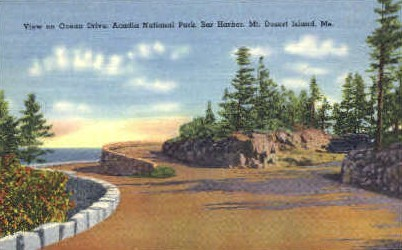 Ocean Drive - Mt. Desert Island, Maine ME Postcard