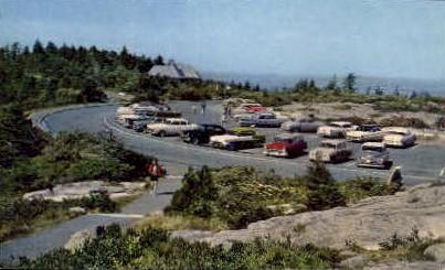 Summit of Mt. Cadillac - Mt. Desert Island, Maine ME Postcard
