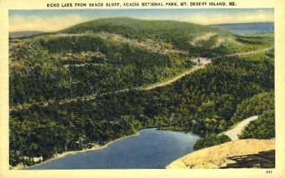 Echo Lake - Mt. Desert Island, Maine ME Postcard