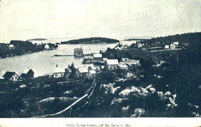 Outer Long Island - Mt. Desert Island, Maine ME Postcard