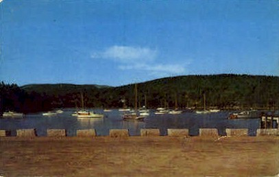 New Municipal Pier - Mt. Desert Island, Maine ME Postcard