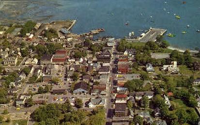 Bar Harbor & Frenchman's Bay - Mt. Desert Island, Maine ME Postcard